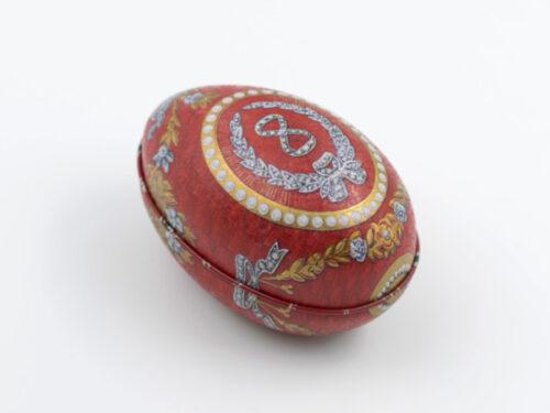 Påskägg i plåt: Fabergé Regal Röd Ornament