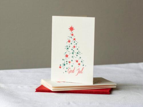 Julkort tillverkade med digelpress, 5-pack