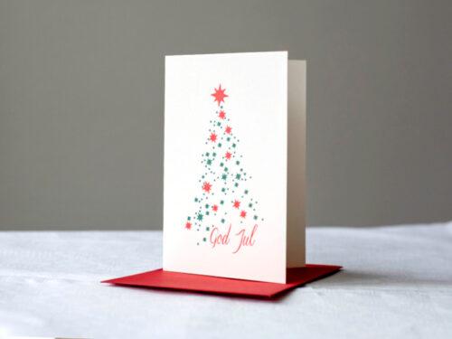 Dubbla julkort tillverkade med digelpress