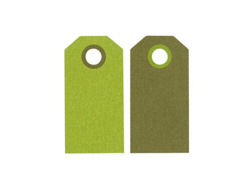 Etikett manillamärke Grön