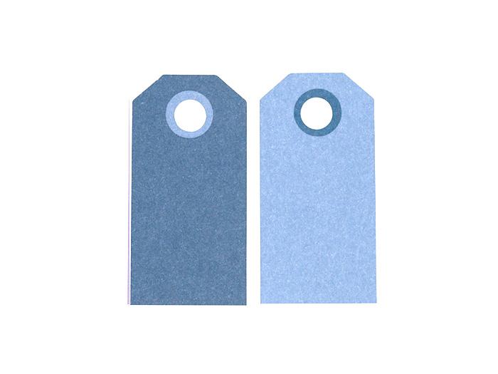 Etikett manillamärke Blå