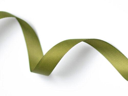 Satinband olivgrön