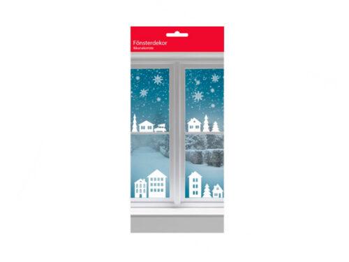 Fönsterdekoration jul - stad och stjärnor