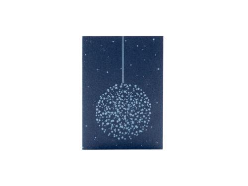 Julkort, dubbla kort STJÄRNKULA (A6) 2-pack. Tillverkade med sk boktryck, letterpress printning