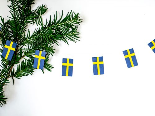 Flaggspel Sveriges flagga Mini