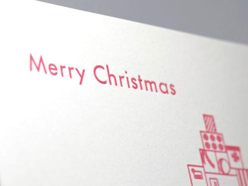 Dubbelt julkort JULKLAPPAR / MERRY CHRISTMAS - Köp själv eller välj att skicka direkt till en vän