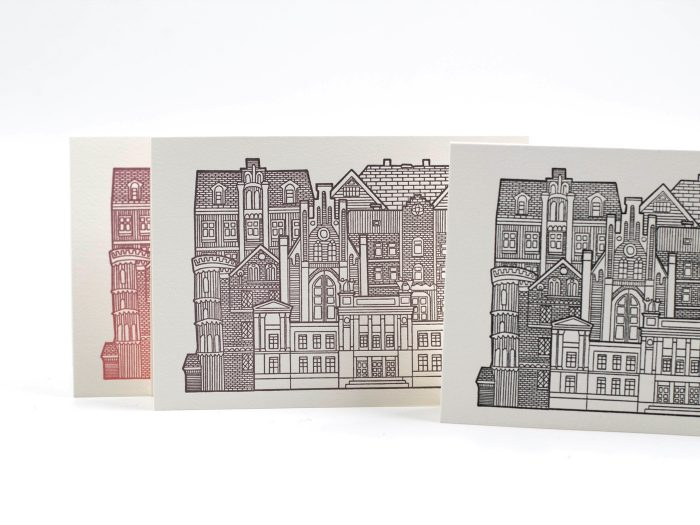Dubbla kort från Gammelhuset Tryckeri - LUNDAHUSEN