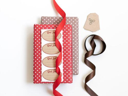 Färdigt kit med julklappspapper - Lillejulafton