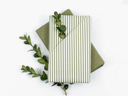 Presentkit med inslagspapper - Grön Oliv