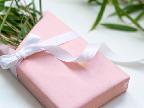 Presentkit med inslagspapper - Rosa Plommon