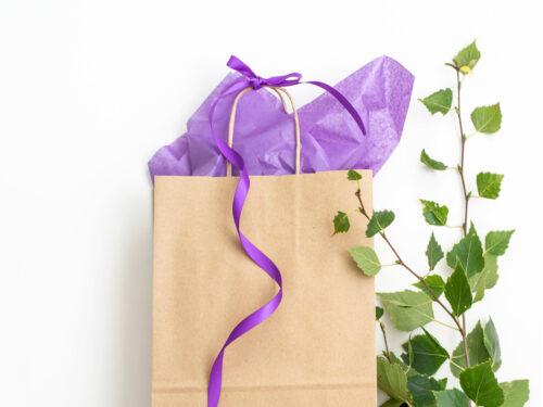 Färdigt presentkit med påse - Lila Lavendel