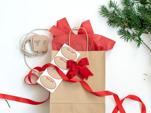 Färdigt kit med presentpåsar - Adventsmys