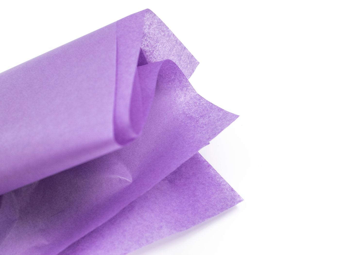 Silkespapper gör det lite lyxigare - Lila - Papper & annat